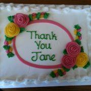 Thank you Jane cake